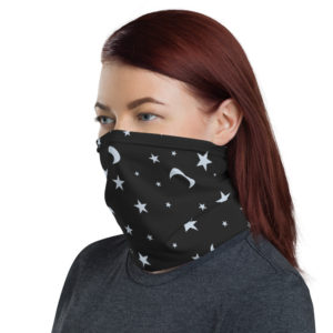 Night Sky – Star & Moon Theme For Night Owls – Neck Gaiter Face Mask